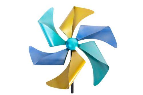 Windrad Blau